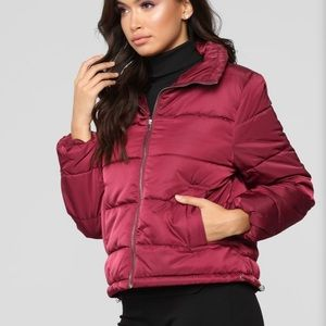 FASHIONNOVA PUFFER ON THE COLD SIDE JACKET